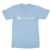 Youtube subscribe baby blue men tshirt