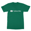 Youtube subscribe kelly green men tshirt