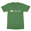 Youtube subscribe leaf green men tshirt
