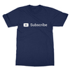 Youtube subscribe navy men tshirt