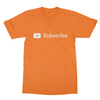 Youtube subscribe orange men tshirt