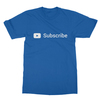 Youtube subscribe royal blue men tshirt