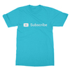 Youtube subscribe turquoise men tshirt