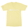 Youtube subscribe yellow men tshirt