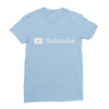 Youtube subscribe baby blue women tshirt