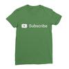 Youtube subscribe leaf green women tshirt