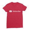 Youtube subscribe red women tshirt