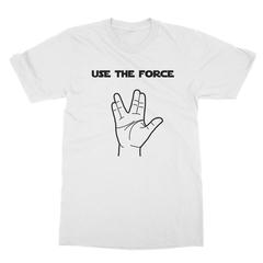 Use The Force (Black Print) Men's T-Shirt