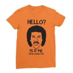 Hello is it me youre looking for orange women tshirt