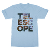Telescope baby blue men tshirt