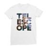 Telescope white women tshirt