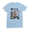 Telescope baby blue women tshirt
