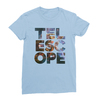 Telescope baby blue women tshirt