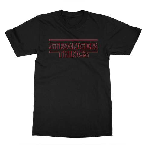 Stranger Things (Red Print) Men's T-Shirt