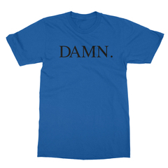 Damn royal blue men tshirt