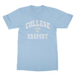 College dropout baby blue men tshirt