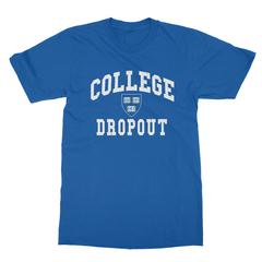 College dropout royal blue men tshirt