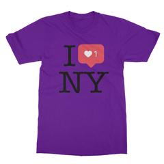 I instaheart ny purple men tshirt