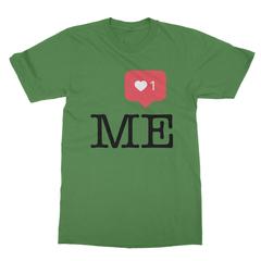 Instaheart me leaf green men tshirt