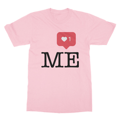 Instaheart me pink men tshirt