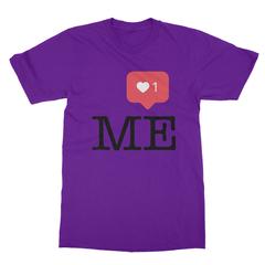 Instaheart me purple men tshirt
