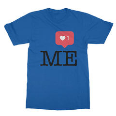 Instaheart me royal blue men tshirt