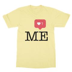 Instaheart me yellow men tshirt