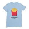 Fryday baby blue women tshirt