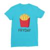 Fryday turquoise women tshirt