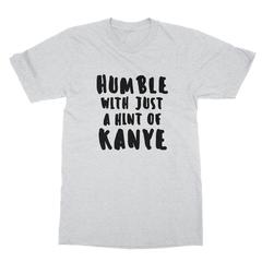 Humble kanye black print ash men tshirt