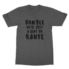 Humble kanye black print asphalt men tshirt