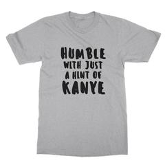 Humble kanye black print athletic heather men tshirt
