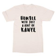 Humble kanye black print cream men tshirt