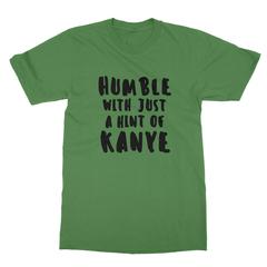Humble kanye black print leaf green men tshirt