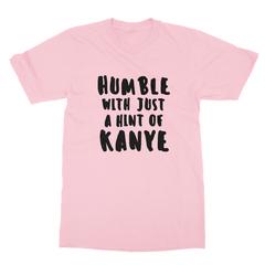 Humble kanye black print pink men tshirt