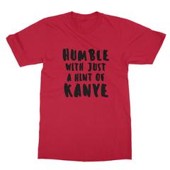 Humble kanye black print red men tshirt