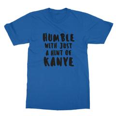 Humble kanye black print royal blue men tshirt