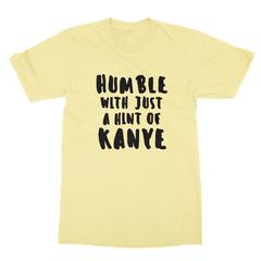 Humble kanye black print yellow men tshirt
