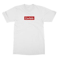 Covfefe box logo white men tshirt