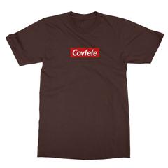 Covfefe box logo chocolate men tshirt