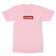 Covfefe box logo pink men tshirt