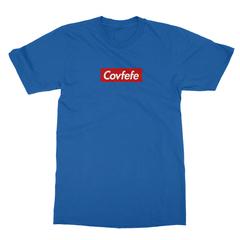 Covfefe box logo royal blue men tshirt
