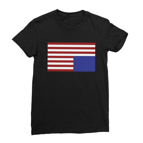 Upside Down American Flag Women's T-Shirt