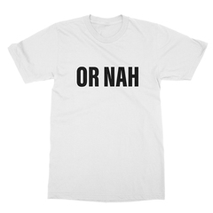 Or nah black print white men tshirt