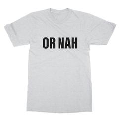 Or nah black print ash men tshirt