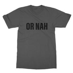 Or nah black print asphalt men tshirt