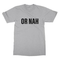 Or nah black print athletic heather men tshirt