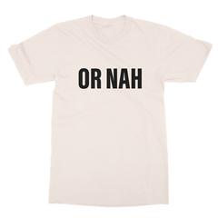Or nah black print cream men tshirt
