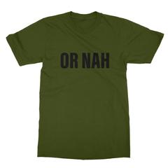 Or nah black print olive men tshirt
