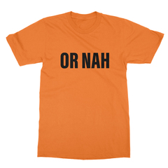 Or nah black print orange men tshirt